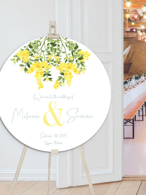 Classic Sunshine hand painted welcome sign