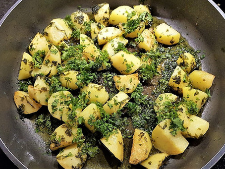 Pommes de terre au persil - petrezselymes krumpli