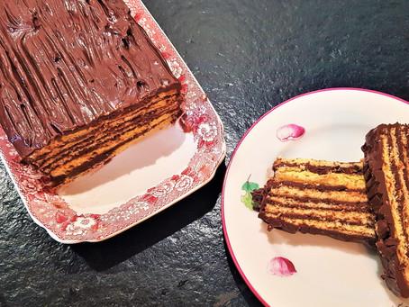 Le Dobos torta de Maman, notre gâteau hongrois de Noël