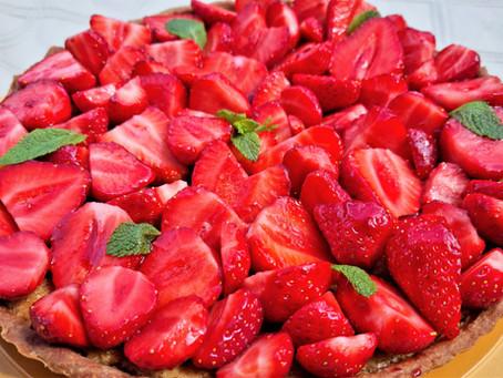 Tarte aux fraises, amandes et menthe : ma recette préférée