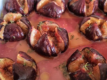 Figues rôties au thym en dessert ou en accompagnement