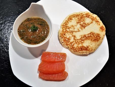 La fameuse sauce à l'aneth pour accompagner le saumon gravlax ou fumé
