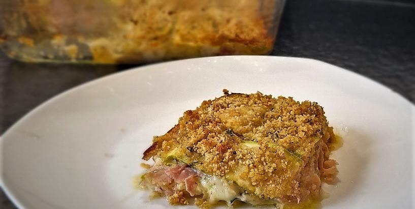 Tortina di zucchine - gâteau croustillant de courgettes sans pâte