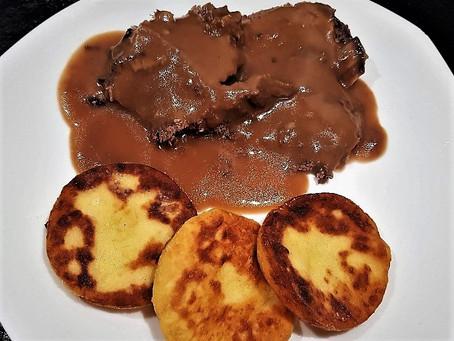 Bœuf façon chasseur - Vadas marha - et galettes de purée de pommes de terre