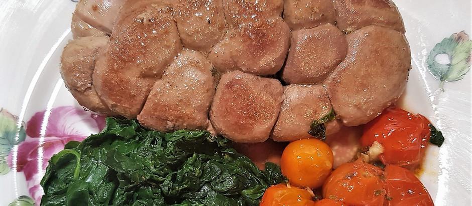 Rognons de veau et tomates cerise simplement poêlés