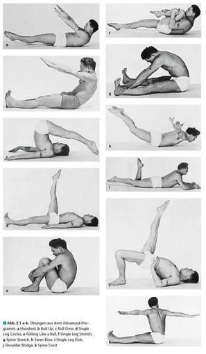 Pilates mattövningar
