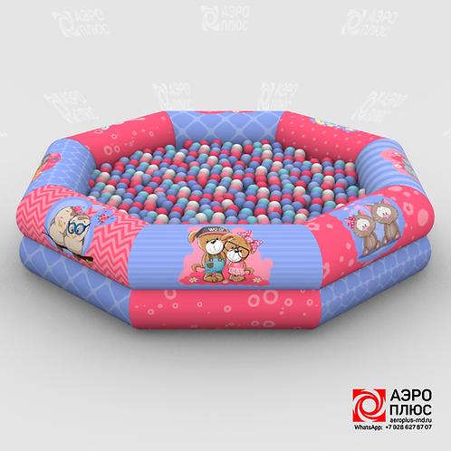 Надувной сухой бассейн Малыши