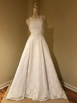Forever Yours Alencon Lace Wedding Dress