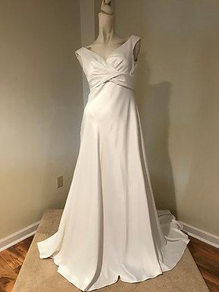 David's BridalClassic Jersey Satin Wedding Dress