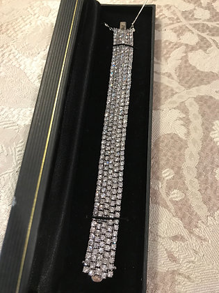 Beautiful .925 Sterling Silver CZ Bracelet