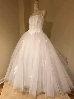 Oleg Cassini Fairytale Tulle Ballgown Wedding Dress