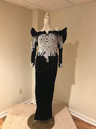 Vintage Claire's Collection Paris Los Angeles Special Occasion Dress