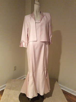 Pale Pink Mother of the Bride Special Occasion Dress & Jacket