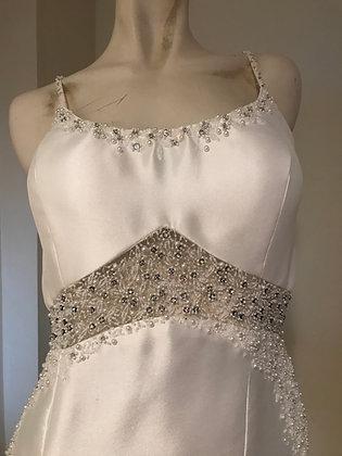 Ivory Matte Satin Trumpet Wedding Dress