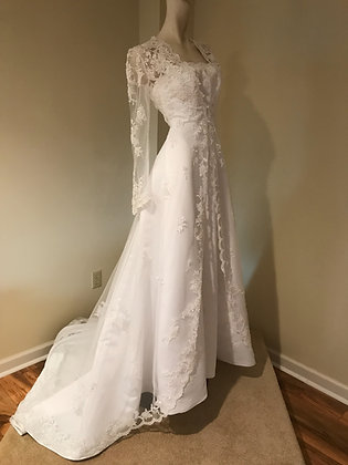 Michelangelo for David's Bridal Wedding Dress with Coat
