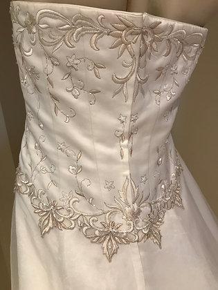 David's Bridal Plus Size Satin & Chiffon Wedding Dress