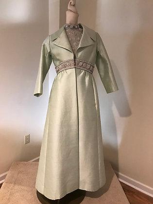 Vintage Nettie Milgrim, British Hong Kong Evening Dress & Coat