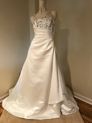 Maggie Sottero Satin Strapless Wedding Dress