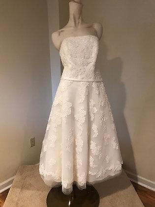 Galena for David's BridalIvoryTea Length Wedding Dress