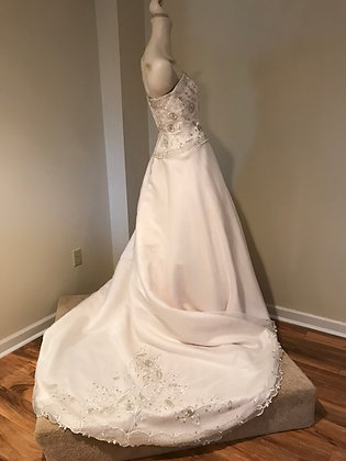 Mon Cheri Ivory Chiffon Wedding Dress