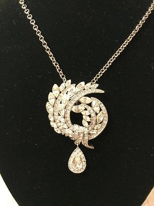 Camrose & Kross Silvertone CZ Necklace