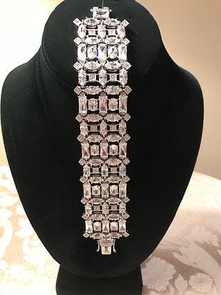 .925 Sterling Silver CZ Bracelet
