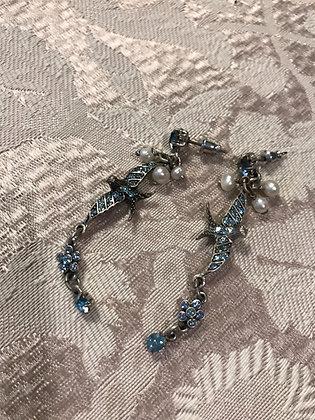 Pilgrim Pewter Pierced Dangle Earrings