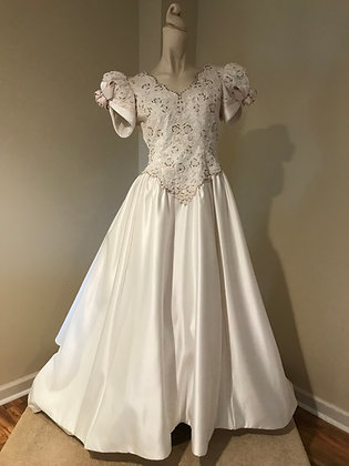 Vintage Mon Cheri Satin Ballgown Wedding Dress