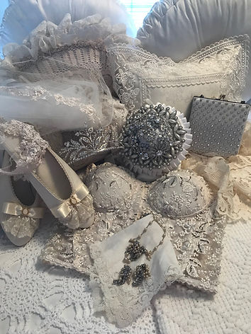 New vintage and designer resale accessories for wedding or special occasion.