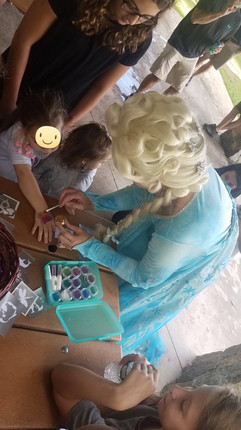 Glitter Tattoos with the Snow Queen