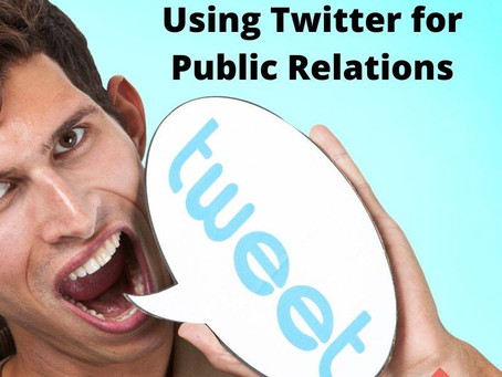 #SB 3: Using Twitter for Public Relations