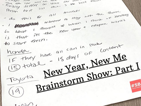 #SB 5: New Year, New Me Brainstorm: Part 1