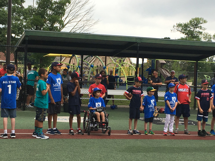Helping out Miracle League Baseball