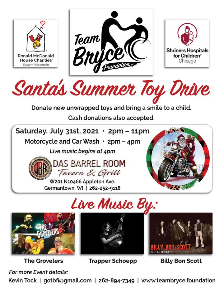 Santas Summer Toy Drive July31st