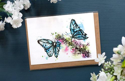 Butterfly Garden | Greetings Card