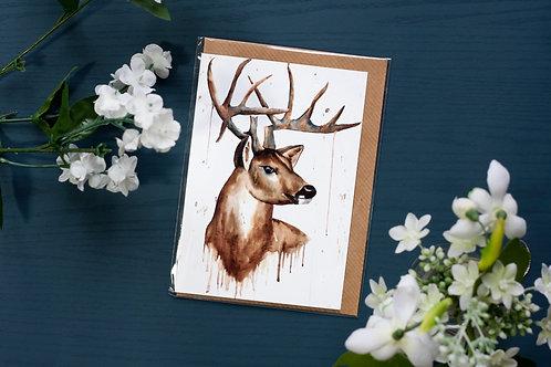 Stag | Greetings Card