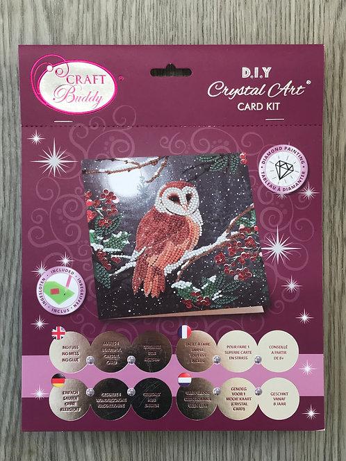 Owl Crystal Art