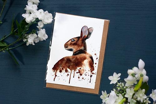 Wild Rabbit | Greetings Card