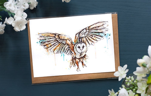 Barn Owl | Greetings Card