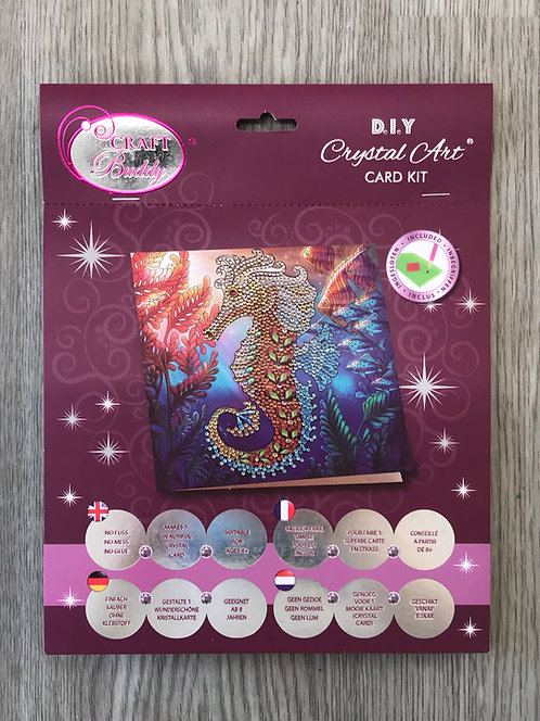 Seahorse Crystal Art