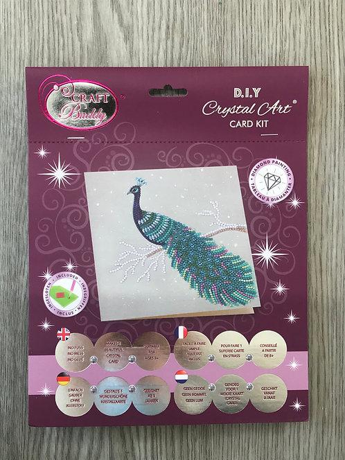 Peacock Crystal Art