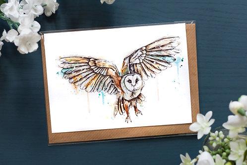 Barn Owl | Greetings Card
