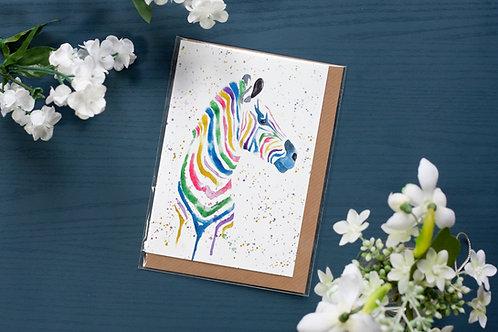Zebra | Greetings Card