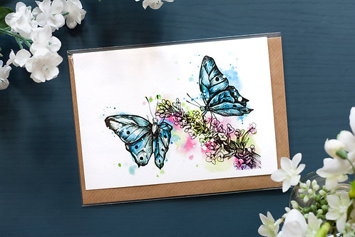 Butterfly Garden | Greetings Card