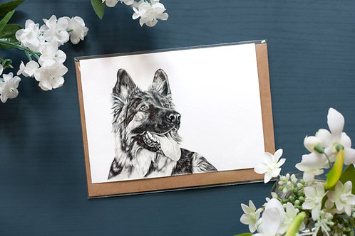 German Shepherd | Greetings Card