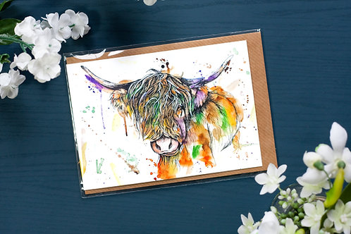 Highland Cow | Greetings Card