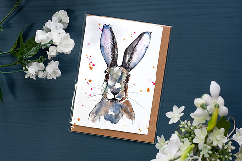 Hare | Greetings Card