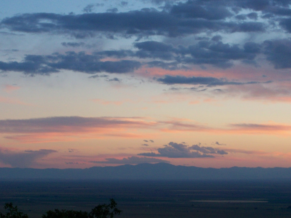 Sunset view of the San Luis Valley