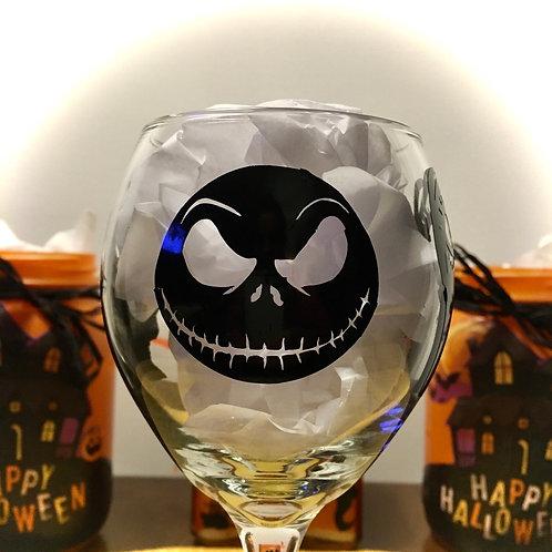 """""""Jack & Sally"""" Wine glass"""