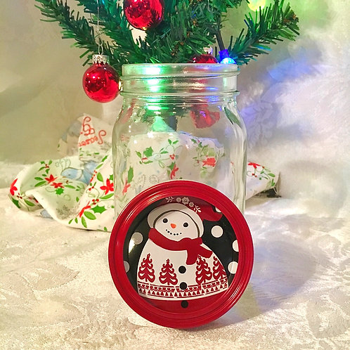 Snowman Mason Jar - MTO
